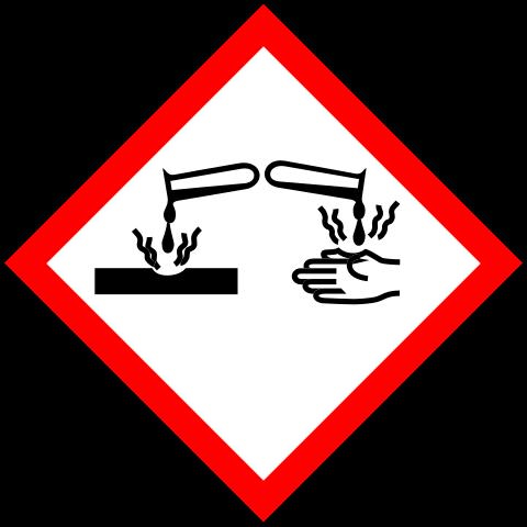 تحذيرات هيدروكسيد الصوديوم